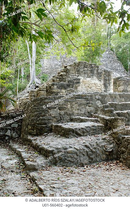 Coba archaeological site. Mexico
