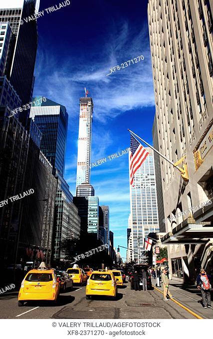 Waldorf Astoria hotel, Park Avenue, Manhattan, New York City, New York, USA