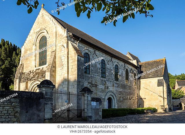 Carolingian Church of Saint Leger at Cravant-les-Coteaux. Chinon District, Indre-et-Loire, Centre region, Loire valley, France, Europe