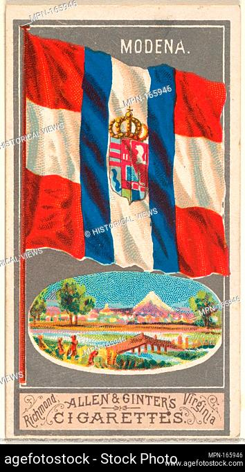 Modena, from the City Flags series (N6) for Allen & Ginter Cigarettes Brands. Publisher: Issued by Allen & Ginter (American, Richmond