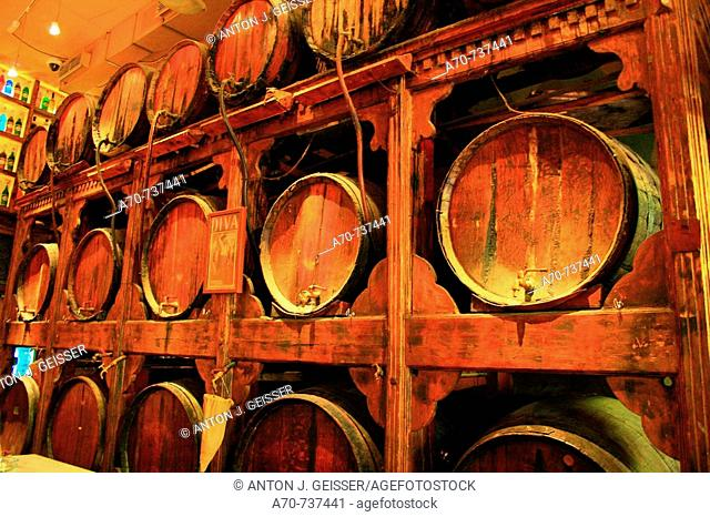 Wine casks. Athens. Greece