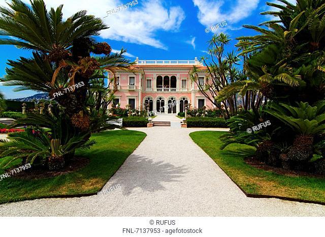 Villa Ephrussi de Rothschild, Saint Jean, Cap Ferrat, Cote d'Azur, Provence, France, Europe