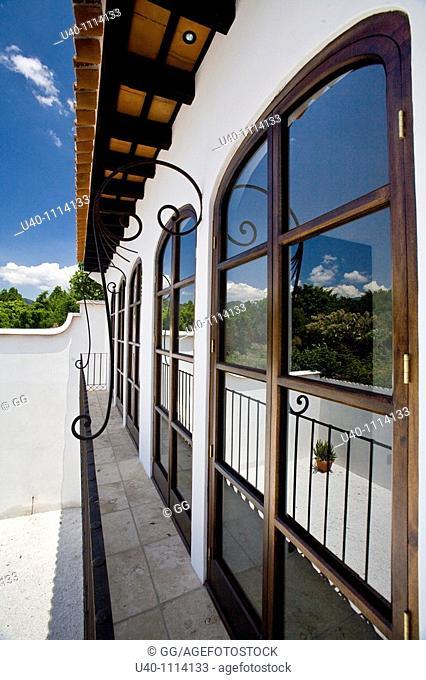Guatemala, Antigua, veranda