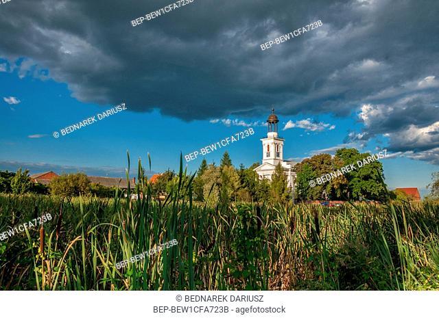 St. John the Baptist Church in Brzostkow, village in Greater Poland Voivodeship