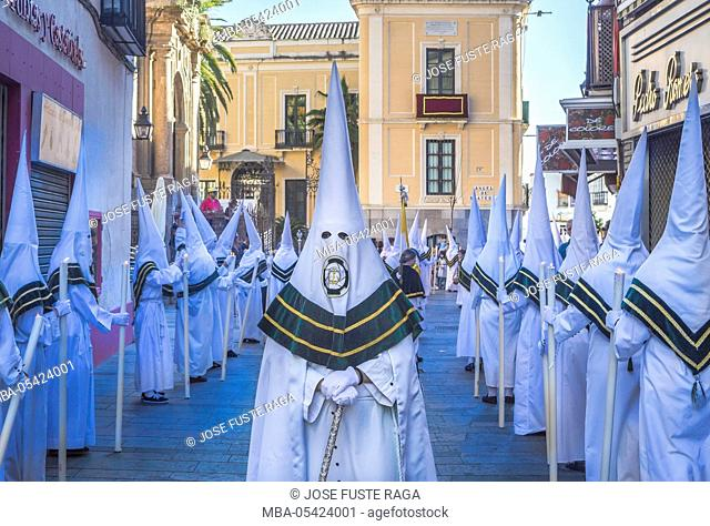 Spain, Andalucia Region, Cordoba City, Holy week parade