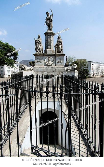 Presbítero Maestro cemetery museum 1808. Lima city. Peru. Mausoleum of Ramón Castilla y Marquesado