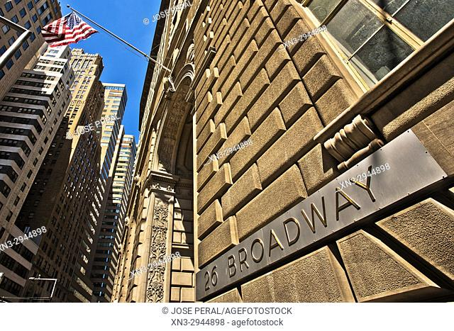 Standard Oil Building, 26 Broadway, Broadway Avenue, Lower Manhattan, Financial District, Downtown, Manhattan, New York City, New York, USA