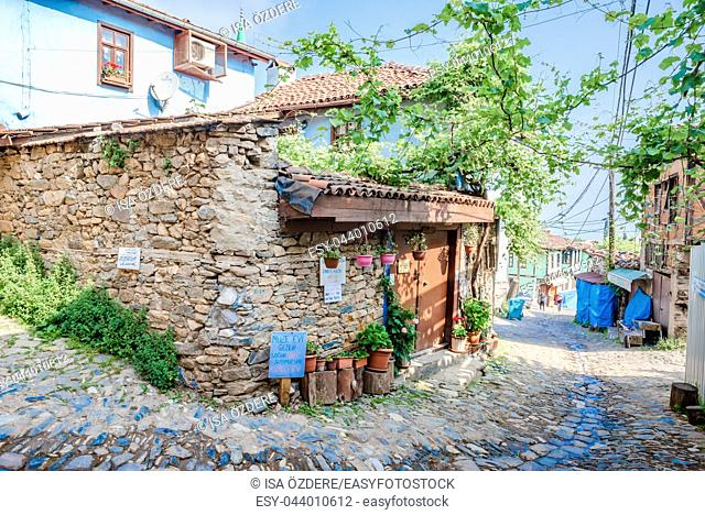 View of historical Cumalikizik village,a popular destination for Tourists and locals in Bursa,Turkey. 20 May 2018