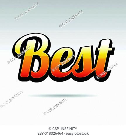 Best Title for Labels on Light Background. Vector