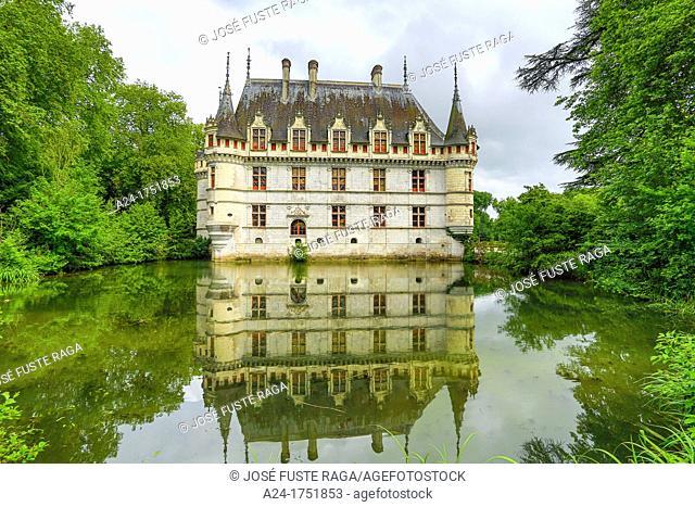 France ,Loire Valley , Azay le Rideau Castle