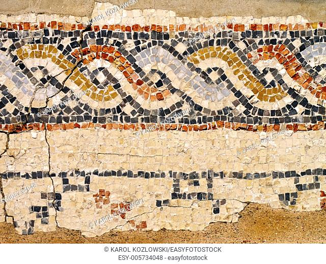 Mosaic in Caesarea Maritima - the ancient roman city, Israel