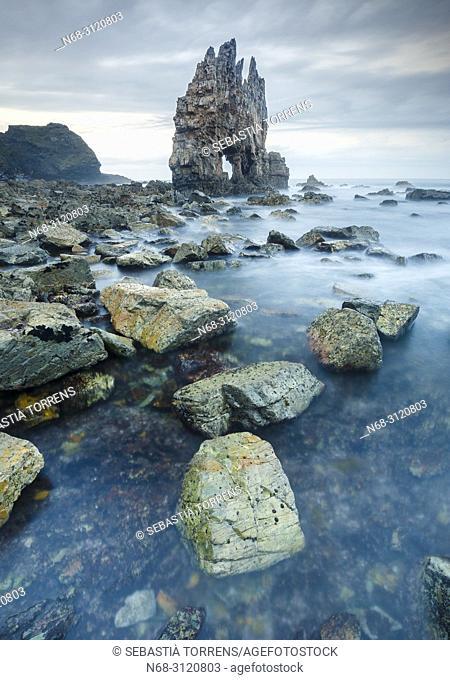 Portizuelo beach, Villar, Asturias coast, Spain
