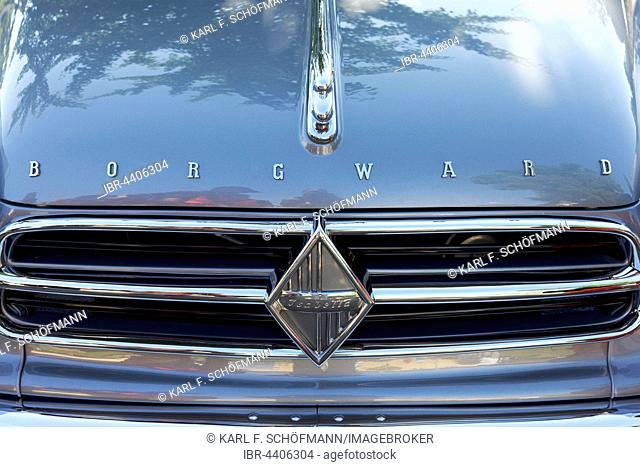 Front of Borgward Isabella cabriolet, 1960 model, vintage car, Classic Days Dyck 2016 Jüchen, Niederrhein, North Rhine-Westphalia, Germany