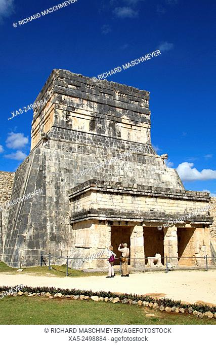 Temple of the Jaguars and Shields, Chichen Itza, Yucatan, Mexico