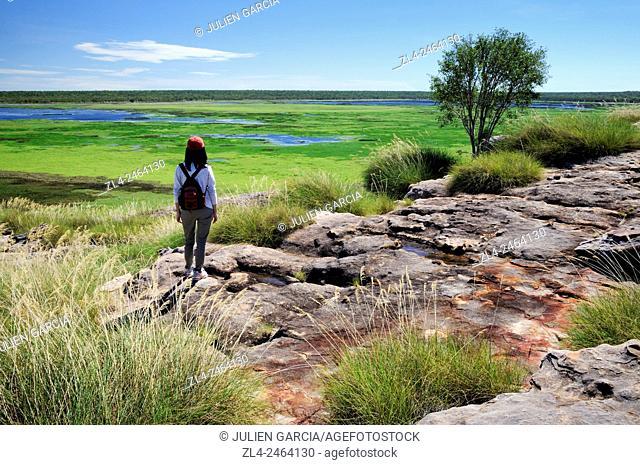 Australia, Northern Territory, Kakadu National Park listed as World Heritage by UNESCO, Ubirr Rock, Model Released