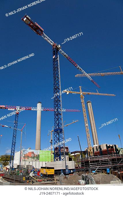 Construction crane industry,residential. Stockholm Sweden