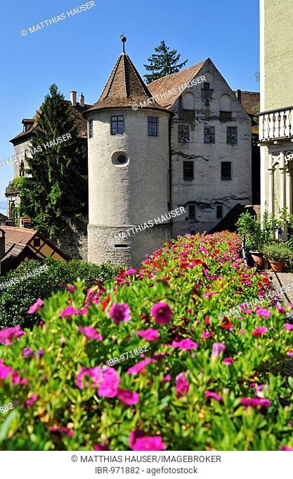 Meersburg castle, old castle, Meersburg on Lake Constance, Baden-Wuerttemberg, Germany, Europe