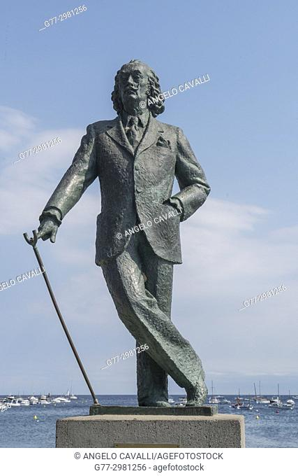 Statue of Salvador Dali. Cadaques. Costa Brava. Catalonia. Spain