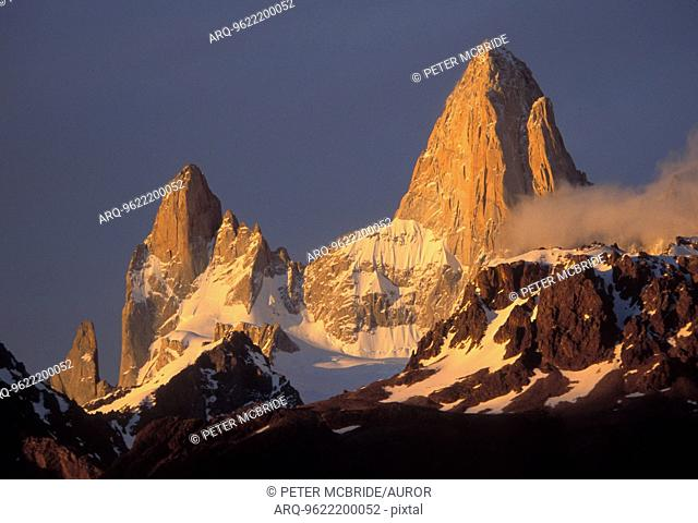 Sunrise on Fitzroy in Argentina