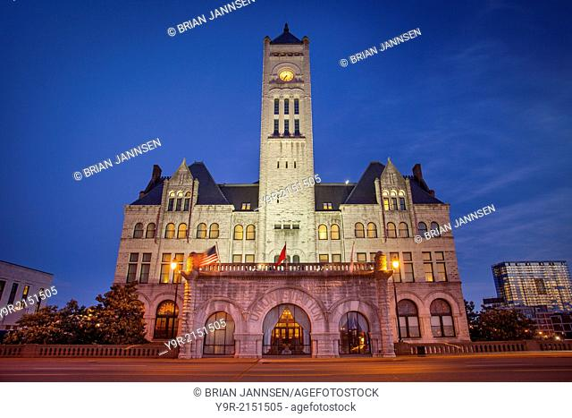 Union Station - restored train station, now a luxury hotel, Nashville, Tennessee, USA