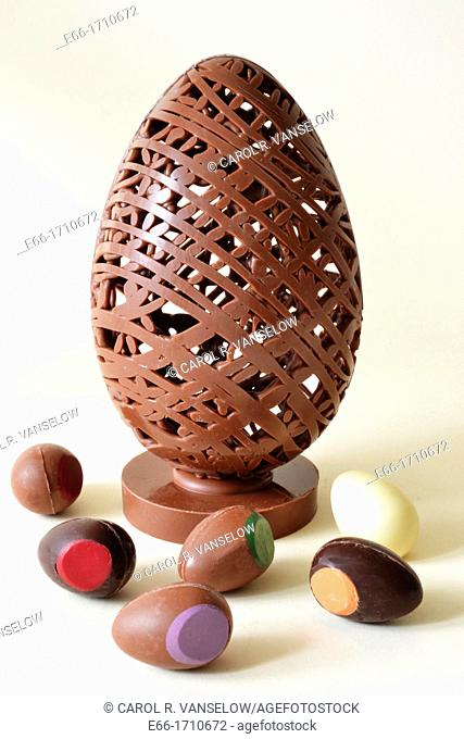 Handmade Easter eggs are available at Bread and Delicious in Maastricht in the Netherlands