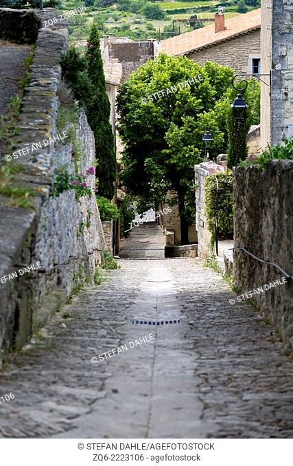 Typical Street View in Bonnieux, Provence, France