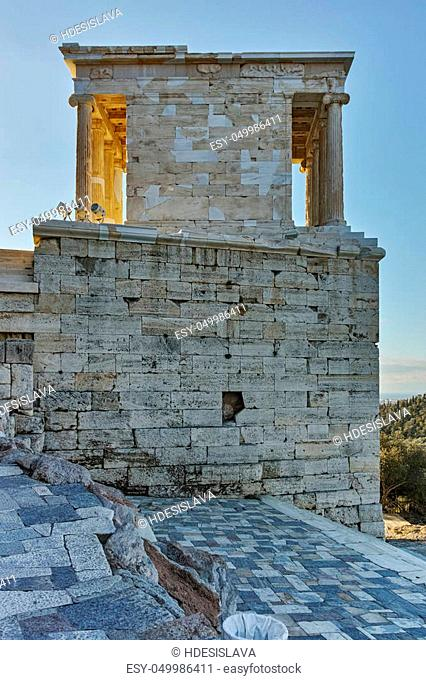 Propylaea -monumental gateway in the Acropolis of Athens, Attica, Greece