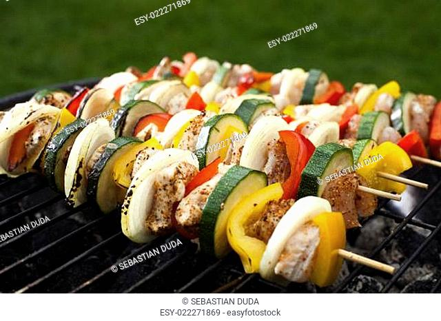 Skewers, Grill background
