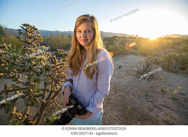 Tucson AZ Photographer In Desert