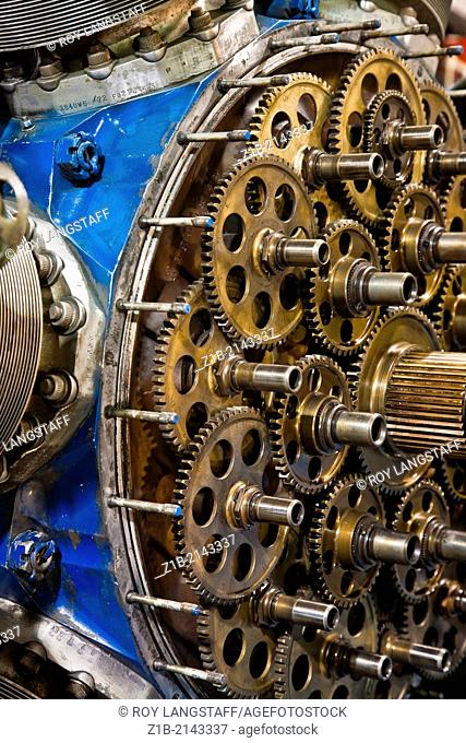 Gearbox of a radial airplane engine