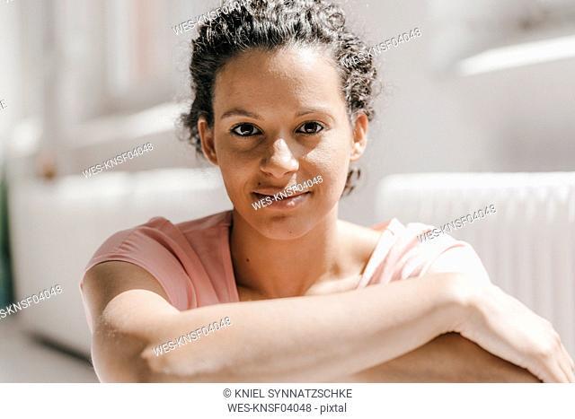 Portrait of pretty woman, smiling