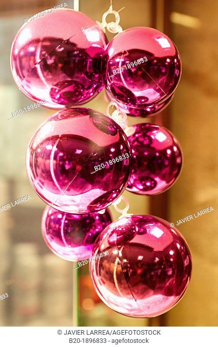 Christmas decorations, Bayonne, Aquitaine, Pyrénées-Atlantiques, Basque country, 64, France