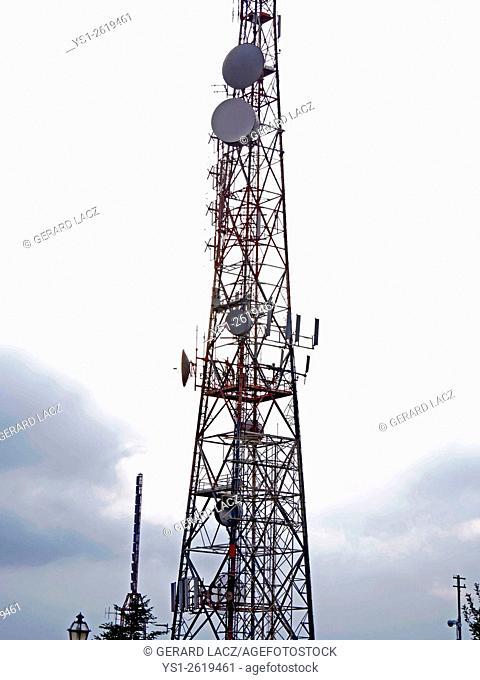 Communication Antenna, Transmitter, Sicily in Italy