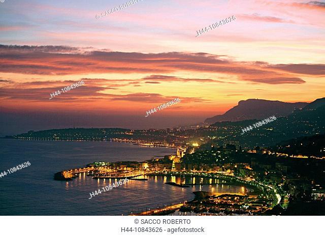 France, Europe, Menton, Alpes-Maritimes, Cote d'Azur, Mediterranean sea, Coast, Europe, Sea, City, Old town, Cap Marti