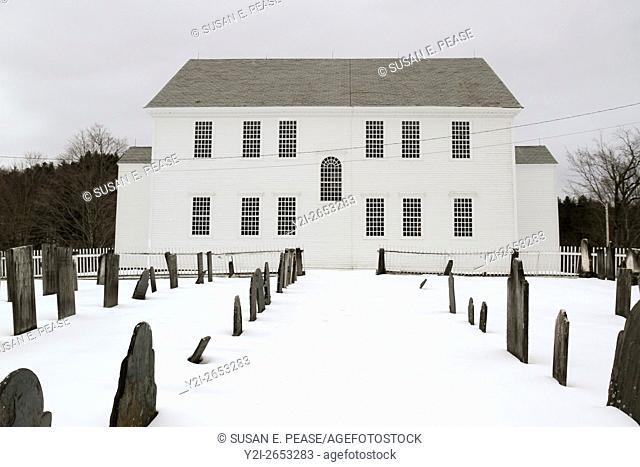Rockingham Meeting House, Rockingham, Vermont, United States, North America