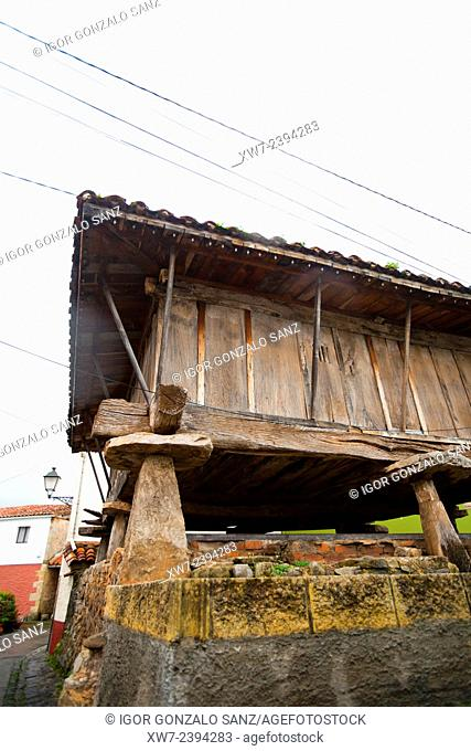 Horreo (Granary) in Ribadesella (Asturias, Spain, Europe)