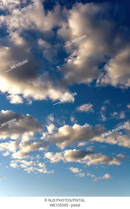 Cumulus clouds, Comunidad de Madrid, Spain, Europe