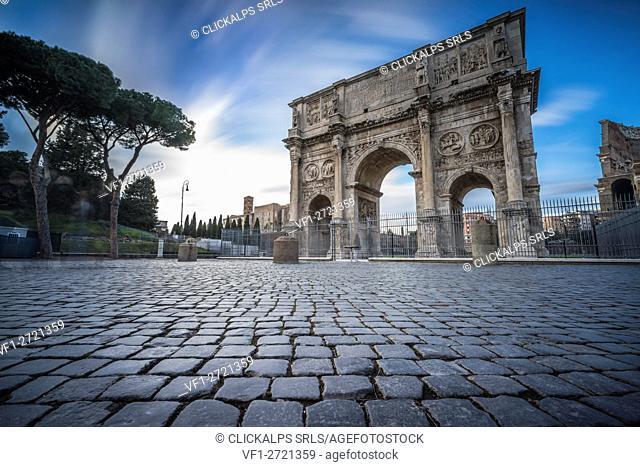 Rome, Lazio, Italy. Arch of Constantine