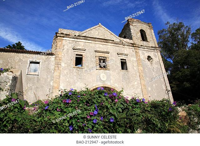 ruins of the monastery Convent of Monchique, Algarve, Portugal