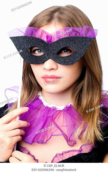 e034209b92d3 Girl purple masquerade Stock Photos and Images | age fotostock