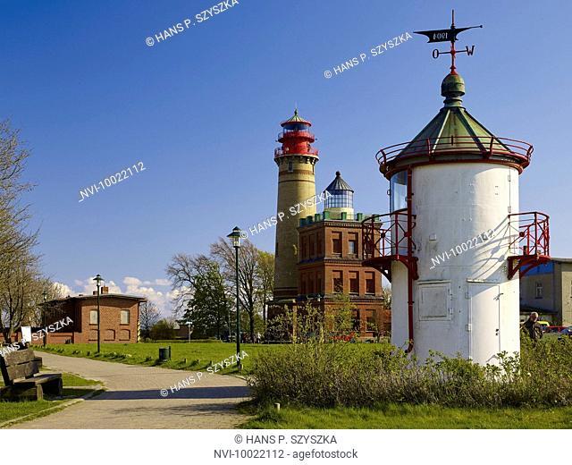 Old and new lighthouse, lighthouse Ranzow at Cape Arkona, Rügen, Mecklenburg-Vorpommern, Germany