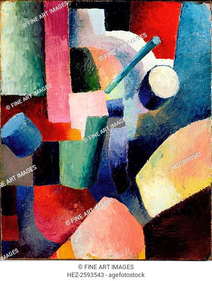 Colored Composition of Forms, 1914. Found in the collection of the Albertina, Vienna
