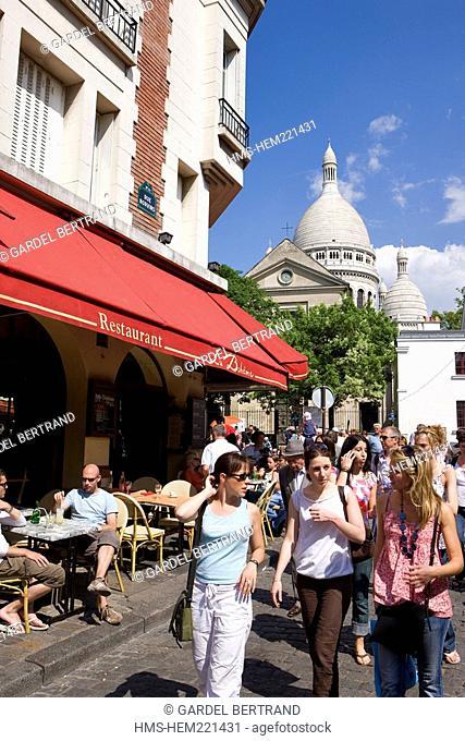 France, Paris, Montmartre Hill