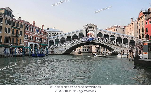 Italy , Venezia City ,Gran canal and Rialto Bridge