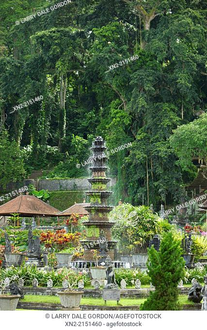 A fountain at at Tirtagangga Water Palace, Karangasem, Bali, Indonesia