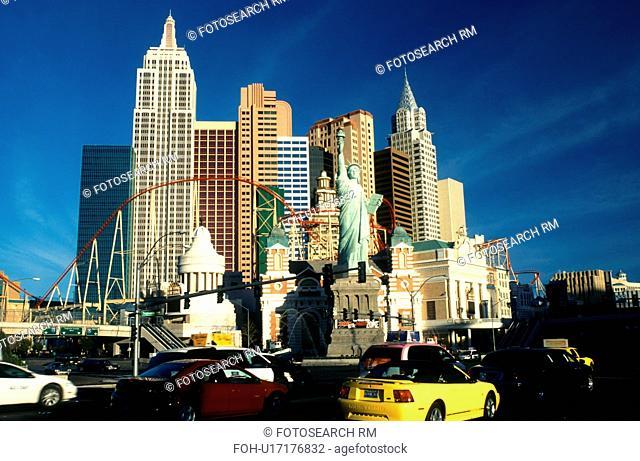 Las Vegas, NV, casino, Nevada, The Strip, New York-New York Hotel & Casino in Las Vegas, the Entertainment Capital of the World