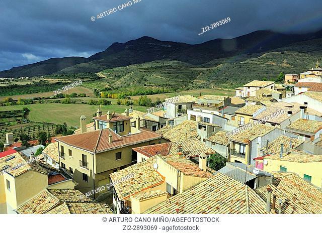 Loarre town, Huesca province, Spain