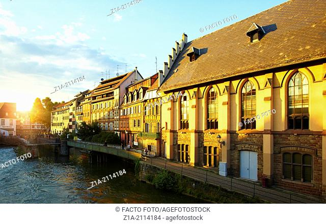 Petite France district. Strasbourg. Bas-Rhin. Alsace. France