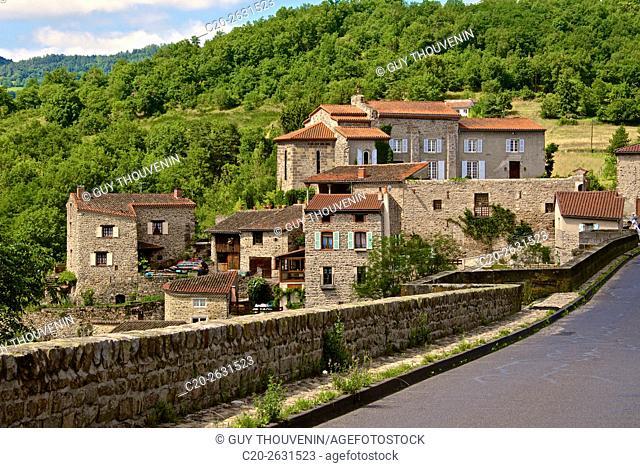 Vieille Brioude, perched medieval village, 43, Auvergne, Haute Loire, France