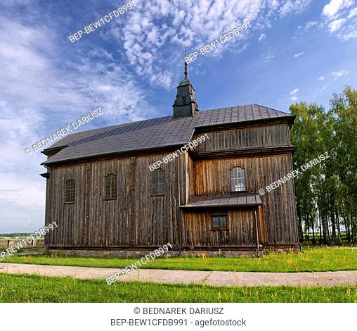 Wooden baroque church of the Nativity of the Virgin in village Cibory - Kolaczki, Podlaskie voivodeship, Poland